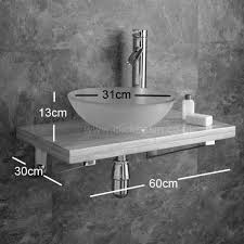 wall mount glass sink wall mounted wooden shelf kit with potenza round basin