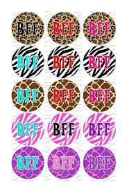 sprüche bff items similar to bottle cap images bff sayings on animal prints