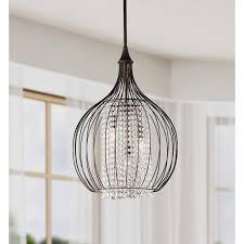 Indoor Chandeliers by Monika Indoor 3 Light Copper Crystal Pendant Chandelier 24