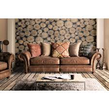 Leather Sofa Fabric Leather And Fabric Sofa Mix Bright Cube Ottoman In Family Room