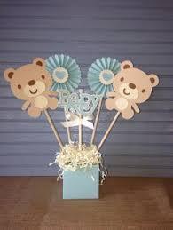Centerpieces For A Baby Shower by Centro De Mesa Para Baby Shower Hecho De Flores De Papel Oso Y