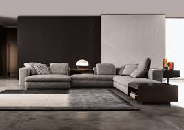 canape minotti yang chaise designed by rodolfo dordoni for minotti orange skin