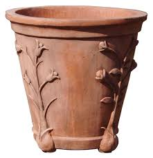 20 Inch Planter by 20 Inch Flower Vine Round Terracotta Planter Vase