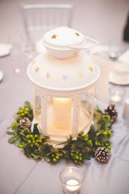 white lantern centerpieces the lazy way to great winter wedding centerpieces