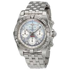 bentley breitling diamond breitling chronomat 41 automatic mother of pearl diamond dial