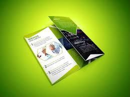 cara membuat desain x banner di photoshop cara membuat desain brosur yang menarik brosur lipat tiga hijau