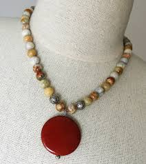 bead lace necklace images Handmade crazy lace agate necklace handmade jewelry jpg