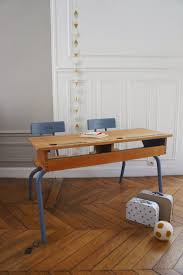 petit bureau ecolier atelier petit toit pupitre vintage revisité sur commande sept
