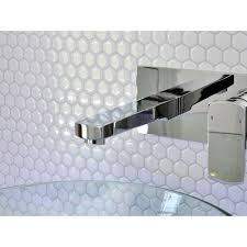 Kitchen Backsplash Stick On Tiles Smart Tiles Hexago 11 27 In W X 9 64 In H Decorative Mosaic Wall