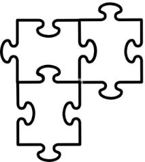 puzzle pieces connected clip art vector clip art online royalty