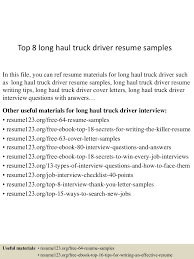 Resume Samples Truck Driver by Top8longhaultruckdriverresumesamples 150723083823 Lva1 App6892 Thumbnail 4 Jpg Cb U003d1437640749