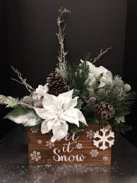 large snowy poinsettia christmas box 2016 by andrea christmas