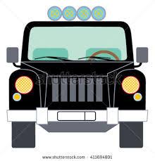safari jeep front clipart safari adventure car jeep vector illustration stock vector hd