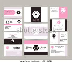 Business Cards Front And Back Big Set Vector Business Cards Layout Stock Vector 449631286