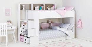 Bunk Bed White White Bunk Beds With Underbed Storage Storage Designs