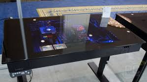 Computer Inside Glass Desk Lian Li Dk 04 Sit Stand Computer Desk Enclosure Pc Perspective