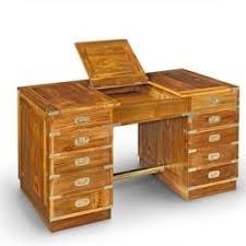 bureau teck massif bureau en teck massif 5 tiroirs plateau ouvrant mobiliers