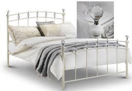 White Metal Kingsize Bed Frame Julian Bowen 150cm Ivory White Metal King Size Bed