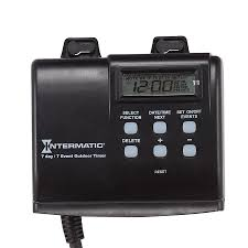 how to set light timer intermatic shop intermatic 15 amp 2 outlet digital residential plug in lighting