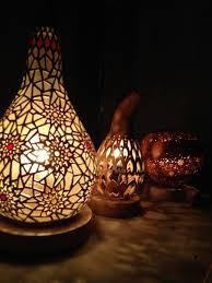 rustic gourd lamp hontzargi kuia lamparas artesanales wirh