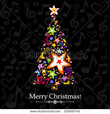music notes christmas tree stock images royalty free images