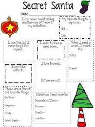 christmas gift questionnaire template template business