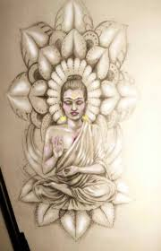 buddha tattoo design hinting at frida kahlo by sedance on deviantart