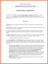 agreement employment agreement sample