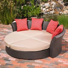 Round Sofa Chair Living Room Furniture Amazon Com Mission Hills Corinth Daybed Sunbrella Outdoor Patio
