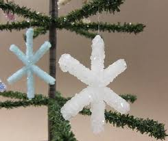 how to make borax snowflake ornaments curbly