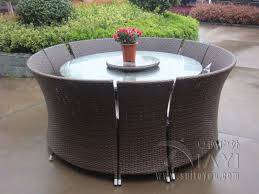 Outdoor Rattan Dining Chairs 7 Pcs Outdoor Rattan Garden Dining Sets All Weather Waterproof