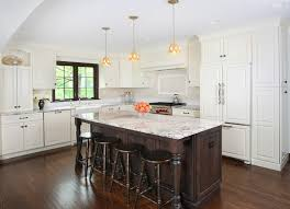 Hardwood Floors With White Cabinets River White Granite Kitchen Traditional With Stained Window Trim