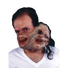 morris costumes tm132 twosome gruesome half masks with latex band