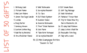 birthday gift list journalingsage