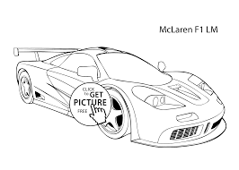 super car mclaren f1 lm coloring page cool car printable free