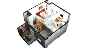 3d view with floor plan keralahousedesigns modern house thrissur