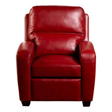 Red Leather Reclining Chair Brice Recliner Emerson Red
