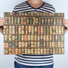 kitchen collection free shipping beer collection bars kitchen drawings posters adornment vintage
