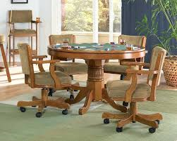 kitchen table and chairs with casters dining room chair casters ilovefitness club