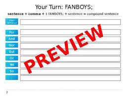coordinating conjunctions fanboys powerpoint and pdf tpt