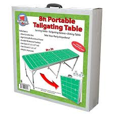Beer Pong Table Size Gopong Portable Football Field Tailgating U0026 Beer Pong Table 8 Ft