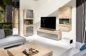 Modern Wooden Tv Units Rounded Designer Oak Entertainment Unit Modern Oak Tv Unit