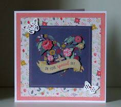 folk floral card docrafts scrapbook serien