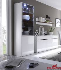 Gloss White Living Room Furniture Modern Living Room Display Cabinet Showcase High Gloss White