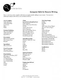 Microsoft Publisher Resume Templates How To Write Computer Skills On Resume Resume For Your Job