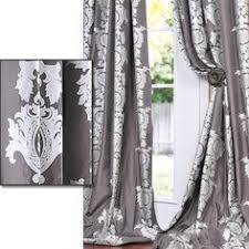 Overstock Drapes Solid Faux Silk Taffeta Platinum Curtain Panel Modern Curtains
