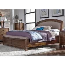 furniture avalon iii queen storge bed with upholstered headboard