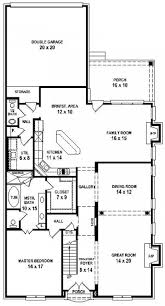 3 bedroom house plans 2 story arts 4 french country 11 trendy