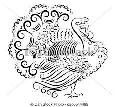 color turkey vector thanksgiving day eps vectors search clip