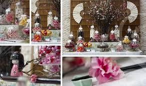 Pink Wedding Candy Buffet by Candy Buffet For Bar Mitzvah Candy Buffet Cherry Blossom Candy